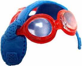 KooKoo Birds 1 Inch Flocked Mini Figure Krash Helmet with Goggles [RANDOM Colors]