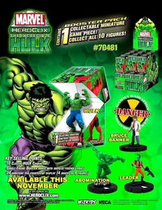 Marvel HeroClix Incredible Hulk Counter Top Display of 24 Random Figures