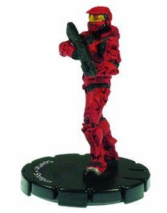 Halo 3 Wizkids CMG Miniature Game ActionClix Single Figure 037 Uncommon Spartan M90 Shotgun [Red]