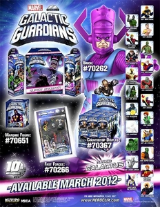 Marvel HeroClix Galactic Guardians Counter Top Display of 24 Random Figures