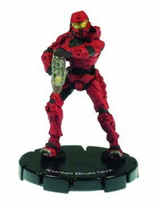 Halo 3 Wizkids CMG Miniature Game ActionClix Single Figure 039 Uncommon Spartan Brute Shot [Red]