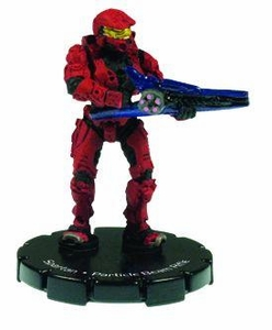Halo 3 Wizkids CMG Miniature Game ActionClix Single Figure 041 Uncommon Spartan Partical Beam Gun [Red]