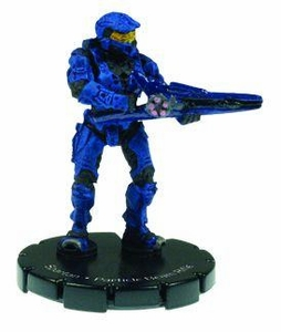 Halo 3 Wizkids CMG Miniature Game ActionClix Single Figure 042 Uncommon Spartan Partical Beam Gun [Blue]