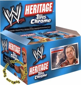 Topps CHROME WWE Heritage Series 1 Trading Cards Box [24 Packs]