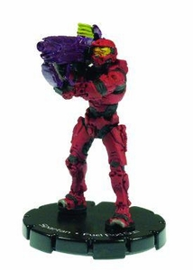 Halo 3 Wizkids CMG Miniature Game ActionClix Single Figure 043 Uncommon Spartan Fuel Rod Gun [Red]