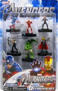 Marvel HeroClix Avengers Movie Starter Set [Includes 6 Figures]