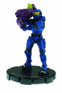 Halo 3 Wizkids CMG Miniature Game ActionClix Single Figure 044 Uncommon Spartan Fuel Rod Gun [Blue]