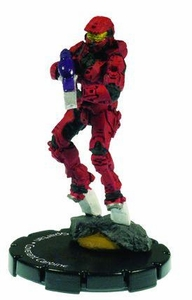 Halo 3 Wizkids CMG Miniature Game ActionClix Single Figure 045 Uncommon Spartan Covenant Carbine [Red]