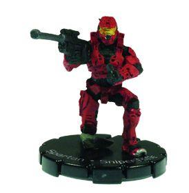 Halo 3 Wizkids CMG Miniature Game ActionClix Single Figure 047 Uncommon Spartan S2 AM Sniper Rifle [Red]