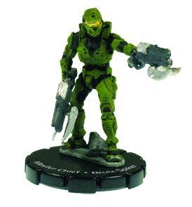 Halo 3 Wizkids CMG Miniature Game ActionClix Single Figure 055 Rare Master Chief Dual Spiker Rifles