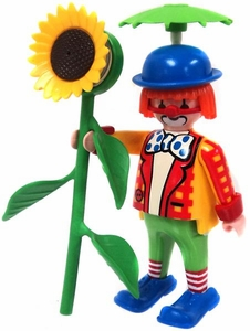 Playmobil LOOSE Mini Figure Clown with Squirting Sunflower