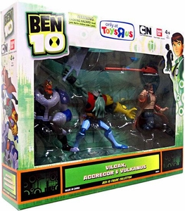 Ben 10 Exclusive 4 Inch Action Figure 3-Pack Vilgax, Aggregor & Vulkanus