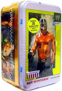 WWE 2008 Topps Heritage 4 Trading Cards Tin Rey Mysterio
