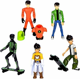 Ben 10 Exclusive 4 Inch Action Figure 5-Pack X-Ray Ben, Galactic Enforcer Ben, Plumber Suit Ben, 10 Year Old Ben & 16 Year Old Ben [Set 1 of 2]