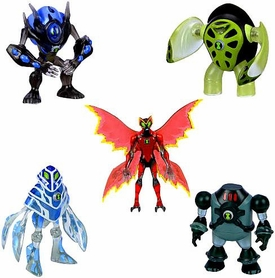Ben 10 Exclusive 4 Inch Action Figure 5-Pack NRG, Amphibian, Ultimate Big Chill, Ultimate Swampfire & Terraspin [Set 2 of 2]