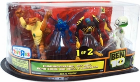 Ben 10 Exclusive 4 Inch Action Figure 5-Pack Humungousaur, Jet Ray, Echo Echo, Big Chill & Lodestar [Set 1 of 2]