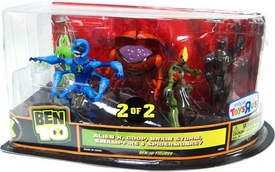 Ben 10 Exclusive 4 Inch Action Figure 5-Pack Alien X, Goop, Brain Storm, Swampfire & Spidermonkey [Set 2 of 2]