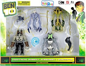 Ben 10 Exclusive 4 Inch Action Figure 4-Pack Ghostfreak, Benwolf, Benmummy & Benvicktor