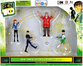 Ben 10 Exclusive 4 Inch Action Figure 4-Pack Soccer Ben, Gwen, Kevin & Grandpa Max