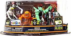 Ben 10 Exclusive Ultimate Alien Action Figure 5-Pack Wildmutt, XLR8, DiamondHead, Ripjaws & Upgrade