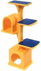 Playmobil LOOSE Accessory Yellow & Blue Kitty Condo  [3 Tiers]