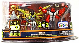 Ben 10 Exclusive Ultimate Alien Action Figure 5-Pack Grey Matter, Heatblast, Four Arms, Stinkfly & Ghostfreak