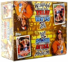 Topps WWE Slam Attax Wrestling Trading Card Game Mayhem Series 2 Booster BOX [24 Packs]
