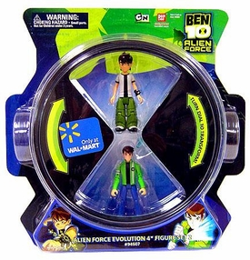 Ben 10 Alien Force Evolution 4 Inch Exclusive Action Figure 4-Pack Set 2 [Ben Tennyson to Ben (15 Years) & Chromastone to Diamondhead]