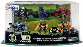 Ben 10 Exclusive Super Deformed 2 Inch Mini Figure 6-Pack Feedback, Khyber's Dog, Fourarms, Rook, Ben & Shocksquatch [Set 2 of 2]