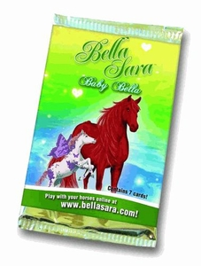 Bella Sara Series 7 Baby Bella Value Box [4 Packs, 1 Horseshoe Card & 1 Magical Online Toy]
