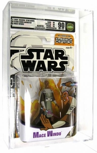 Star Wars Clone Wars Cartoon Network Mace Windu [Animated] AFA Graded 90 BLOWOUT SALE!