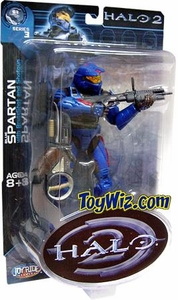 Halo 2 Action Figure Series 3 Blue Spartan (Red Stripes w/ Spades Emblem)