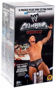 Topps 2011 WWE Wrestling Champions Trading Cards Value Box [6 Packs]
