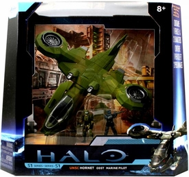 Halo 4 Jada Toys 10 Inch Die Cast Set #96621 UNSC Hornet ODST with Marine Pilot [Combat Edition]