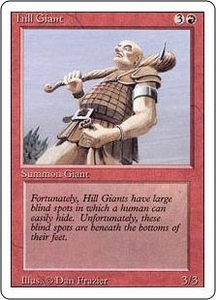 Magic the Gathering Revised Edition Single Card Common Hill Giant