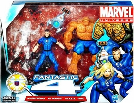 Marvel Universe 3.75 Inch Action Figure 3-Pack Fantastic Four {CLEAR Invisible Woman} [Invisible Woman, Mr. Fantastic & Thing with H.E.R.B.I.E]