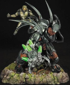 Halo 4 McFarlane Toys Limited Edition Statue Forward Unto Dawn Master Chief vs. Hunter Only 500 Made!