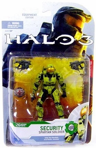 Halo 3 McFarlane Toys Series 4 [2009 Wave 1] Action Figure OLIVE Spartan Soldier Security [Dual Maulers & Radar Jammer] COLLECTOR'S CHOICE!