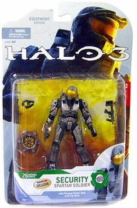 Halo 3 McFarlane Toys Series 4 [2009 Wave 1] Exclusive Action Figure STEEL Spartan Soldier Security [Trip Mine] COLLECTOR'S CHOICE!