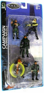 Halo Mini Action Figure 1/18 Scale Campaign 5-Pack [Master Chief, 2 UNSC Soldiers & 2 Elites]