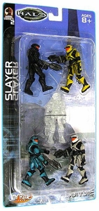 Halo Mini Action Figure 1/18 Scale Slayer 5-Pack [Black, Yellow, Teal, White & Active Camo]