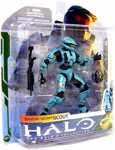 Halo 3 McFarlane Toys Series 5 [2009 Wave 2] Action Figure Cyan Spartan Soldier Scout COLLECTOR'S CHOICE!