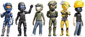 Halo XBOX Live Avatars McFarlane Toys Series 1 Set of 6 Base Set Figures BLOWOUT SALE!