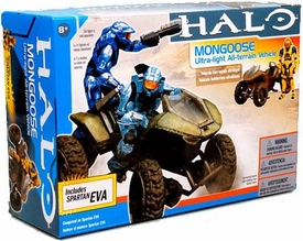 Halo McFarlane Toys Deluxe Vehicle Box Set Mongoose with Yellow & Blue Spartan EVA