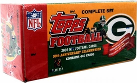 2005 Topps NFL Football Cards 50th Anniversary Factory Sealed Set Green Bay Packers