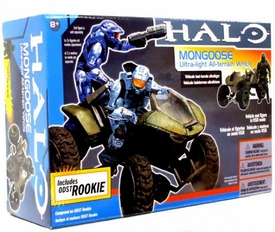 Halo McFarlane Toys Deluxe Vehicle Box Set Mongoose with ODST Rookie in VISR Mode