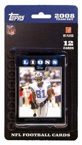Topps NFL Football Cards 2008 Detroit Lions Team Set