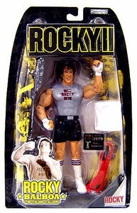 Jakks Pacific Rocky II (Series 2) Action Figure Rocky Training [Black Trunks & Win