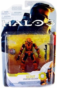 Halo 3 McFarlane Toys Series 4 [2009 Wave 1] Exclusive Action Figure ORANGE Spartan Soldier Scout