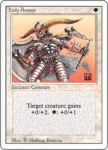 Magic the Gathering Revised Edition Single Card Common Holy Armor
